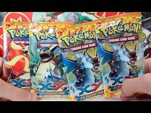 Opening 4 Pokemon X and Y FlashFire Booster Packs!! - YouTube