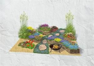 Pflanzen Für Trockenmauer : steingarten mit trockenmauer obi ~ Orissabook.com Haus und Dekorationen