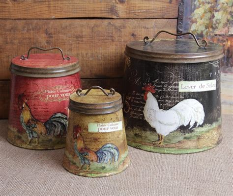 decorative kitchen canisters sets rooster decor jpg