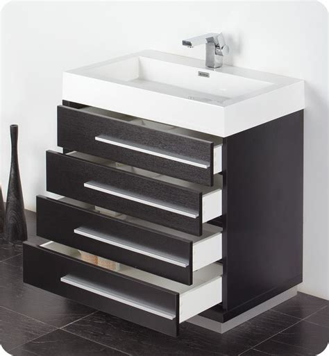30 Bathroom Vanity by Affordable Variety Fresca Livello 30 Quot Black Modern