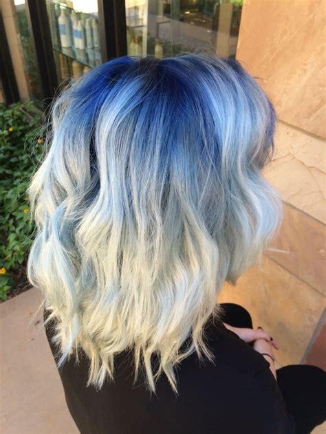 blue shadow root  platinum blonde hair hair styles