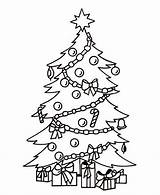 Coloring Presents Pages Tree Under sketch template