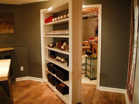 diy bookcase closet door secret bookcase door for storage closet stashvault