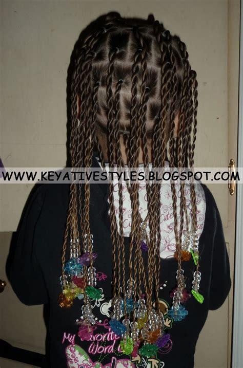 keyative styles rubber bands   base  rope twists hair inspiration pinterest