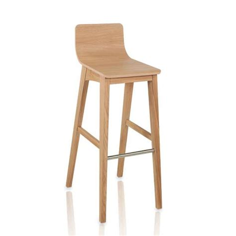 chaise de bar 4 pieds tabouret de bar ou snack moderne en bois enoa 4 pieds