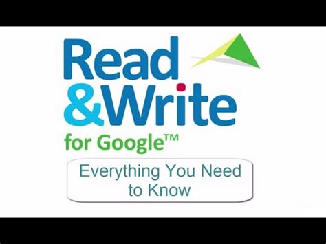 Read & Write For Google  Everything You Need To Know Youtube