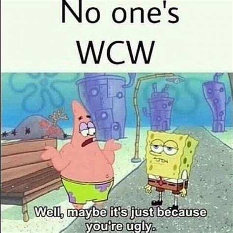 No Ones Wcw Meme - no one s wcw well maybe it s just because you re ugly