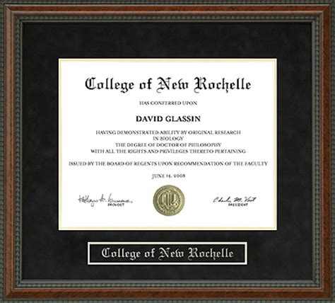 college   rochelle cnr diploma frame wordyisms