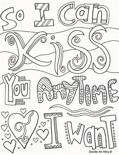 Coloring Pages Doodle Quote Adult Anniversary Sheets
