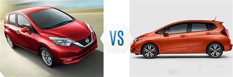 Nissan Versa Vs Honda Fit by 2017 Nissan Versa Note Vs Honda Fit