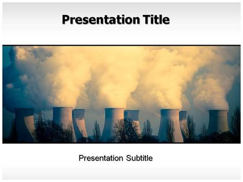 air pollution powerpoint  templates background