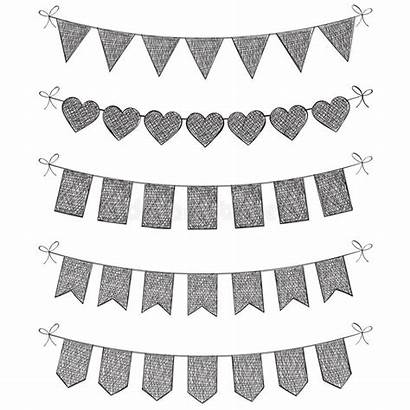 Bunting Flags Drawn Hand