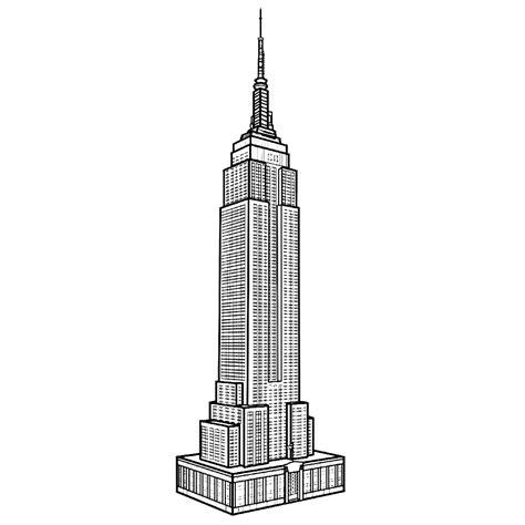 Kleurplaat Nyc by Leuk Voor Empire State Building In New York
