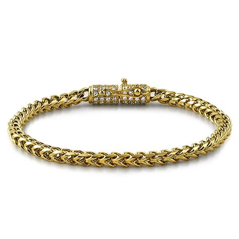 Cz Clasp 4mm Gold Stainless Steel Franco Bracelet. Color Bracelet. Quartz Wedding Rings. Golf Bracelet. Tree Branch Engagement Rings. Red Diamond Necklace. Combat Watches. White Gold Ankle Bracelet. Golden Coin Necklace