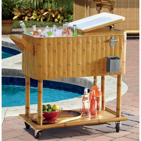outdoor ice chest beverage cooler ideas   patio  deck