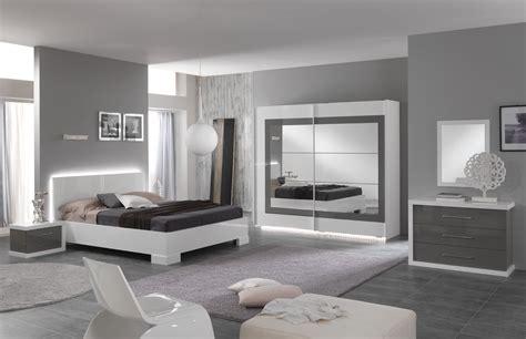 chambre adulte design laqu 233 e blanche et grise hanove