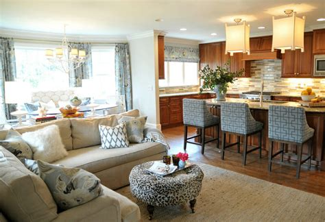 open concept kitchen  living room decor modernize