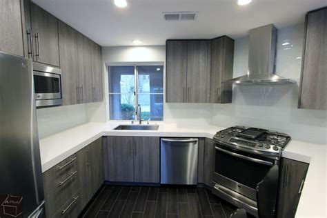 cabinets plus santa ana santa ana modern gray u shaped kitchen remodel with sophia