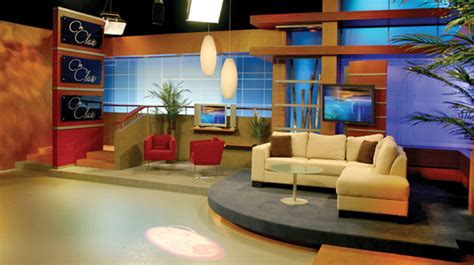 multimedios set design talk shows broadcast design