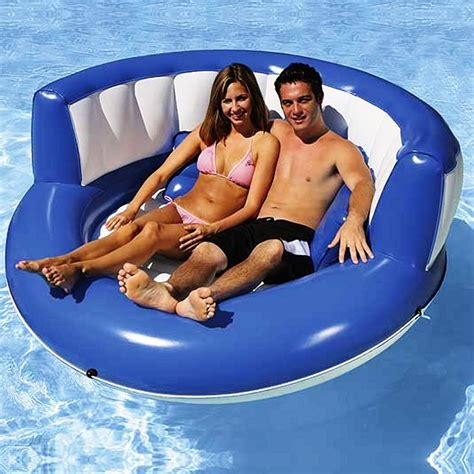 2 person large pool float cuddle island inflatable pool float