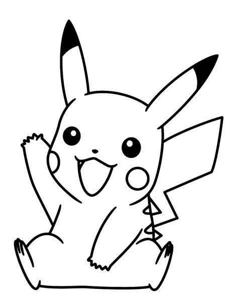 Kleurplaat Pikachu by Pikachu Coloring Pages To And Print For Free