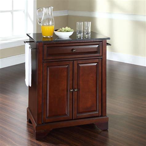 crosley furniture kitchen island crosley furniture lafayette black granite top mahogany