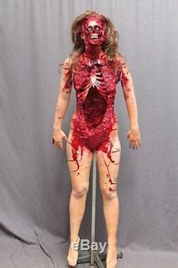deluxe bloody skeletal female corpse haunted house