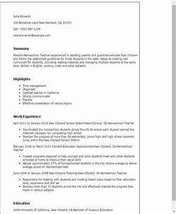 1 homeschool teacher resume templates try them now With homeschool mom resume