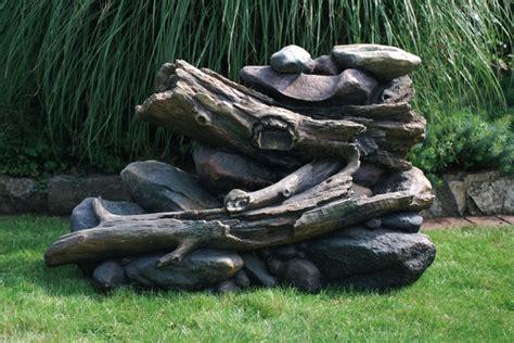 Dekobrunnen HolzstÄmme Außen, Zierbrunnen, Garten Brunnen