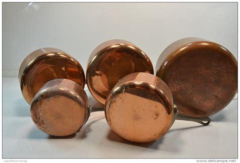 batterie de cuisine en cuivre a vendre série batterie de casseroles en cuivre étamé