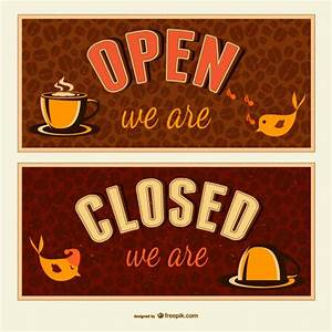 open closed sign template - open and closed signs vector free download