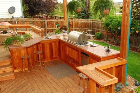 designs for outdoor kitchens 31 amazing outdoor kitchen ideas planted well 6677