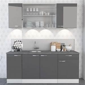 Meuble Cuisine Haut Pas Cher : meuble de cuisine blanc et gris meuble de cuisine element haut pas cher cbel cuisines ~ Teatrodelosmanantiales.com Idées de Décoration