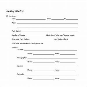 Free 8  Party Planning Samples In Pdf