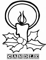 Candle Coloring Pages Birthday Sheet Print sketch template