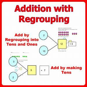 Number Bond Anchor Chart Addition With Regrouping Add Within 20 Double And Single