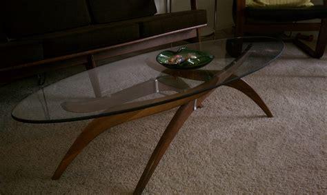 Mid Century Modern Teak Base Coffee Table With Adjustable