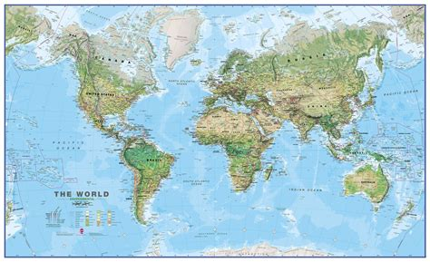 in the world world wall map environmental
