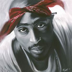 2pac Painting Tupac art Rap Stretched Canvas | eBay