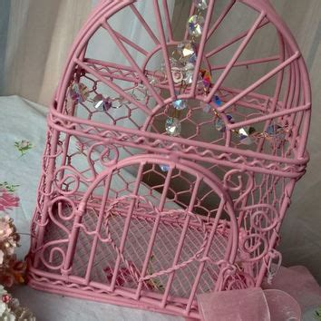 Birdcage Chandelier Shabby Chic by Vintage Pink Birdcage Shabby Chic From Shabbyvintageshop