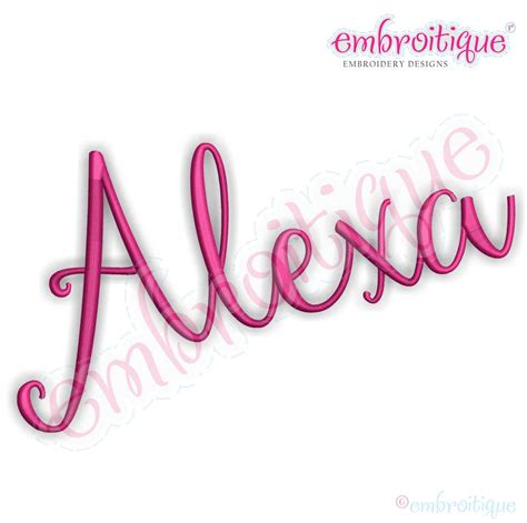 alexa machine embroidery monogram font