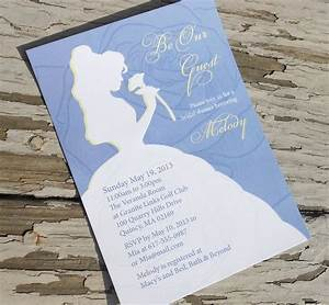 disney beauty and the beast belle bridal shower With free printable disney wedding invitations