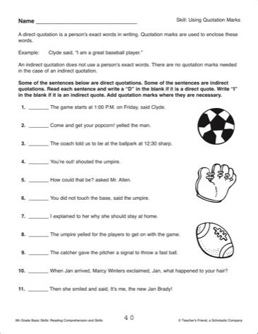 18 best images of quotation worksheets for grade 2
