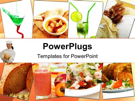 powerpoint template collage  healthy assorted indian