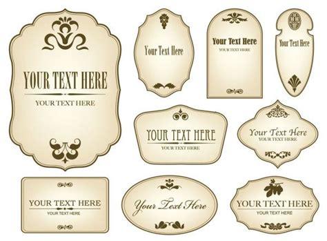 decorative label templates simple bottle label