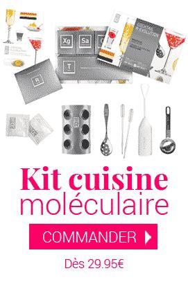 kit de cuisine moleculaire sphérification moléculaire techniques et astuces en