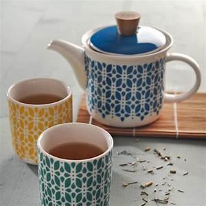 Tasse à Thé : tasse th en porcelaine set de 4 lotus typhoon decoclico ~ Teatrodelosmanantiales.com Idées de Décoration