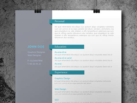 curated cv template for designer material design free personal indesign resume template