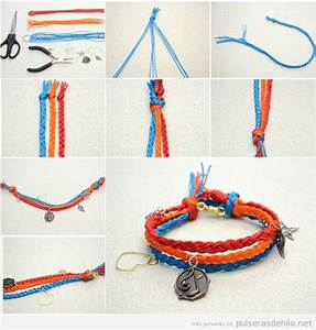 Fabriquer Un String : pulsera de tres tiras de hilos trenzados y charm diy paso ~ Zukunftsfamilie.com Idées de Décoration