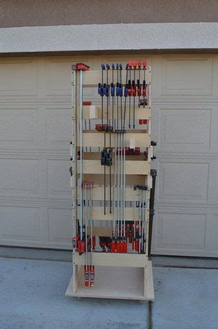 How to build an affordable clothing rack with piping. Norm Abram Rolling Clamp Rack | Clamp storage, Clamp rack ...